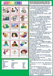 English Worksheets: USEFUL VERBS 1