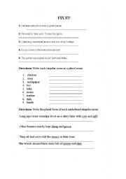 English Worksheets: Fix it