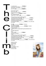 English Worksheets: The Climb - Hannah Montana The Movie