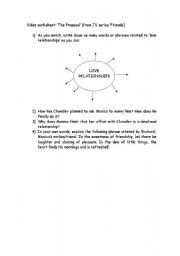 English Worksheet: �The Proposal� from TV Series �Friends�