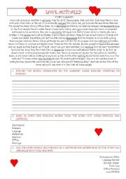 English Worksheets: LOVE ACTUALLY - British humour & great movie story