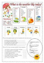 English Worksheet: Weather vocabulary.