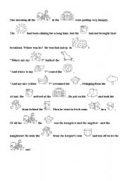 English Worksheets: text about zoo with pictures