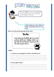 English Worksheets: guided writing