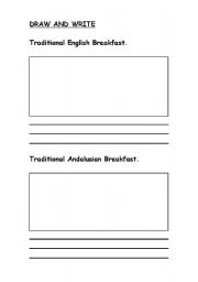 English Worksheet: Traditional English breakfast  vs Andalusian breakfast