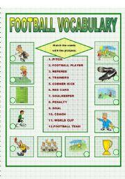 English Worksheet: FOOTBALL VOCABULARY