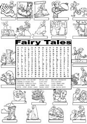 Wordsearch FAIRY TALES