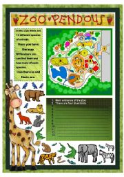 English Worksheets: ZOO PENDOUS - THERE IS/ THERE ARE (animals) - PART 3