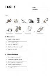 English Worksheet: Happy Street 1 - Unit 5 test