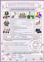 English Worksheets: IDIOMS,IDIOMS,IDIOMS...(11)