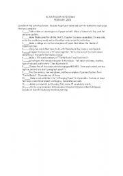 English Worksheets: Black Folder Activities