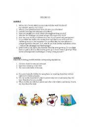 English Worksheets: Childhood