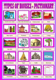 TYPES OF HOUSES  - PICTIONARY