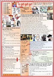English Worksheet: GET