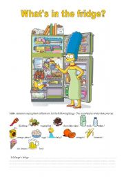 English Worksheet: What�s in the fridge?