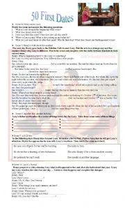 English Worksheet: Fifty First Dates