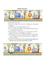 English Worksheet: MODAL AUXILIARY