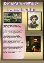 English Worksheets: Russian Artists - Levitan