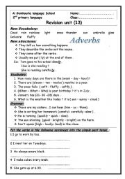 English Worksheets: revision on second primary