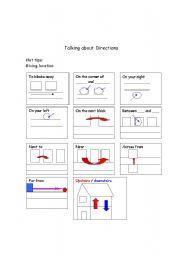 learning directions esl worksheet by shona galbraith. Black Bedroom Furniture Sets. Home Design Ideas