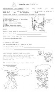 English Worksheet: shrek 2 video activities