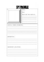English Worksheets: Spy Profile