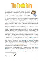 English Worksheets: The TOOTH FAIRY - 2 pages with speaking activities