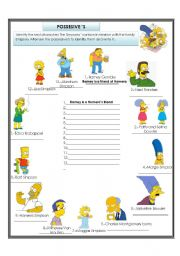 english teaching worksheets the simpsons. Black Bedroom Furniture Sets. Home Design Ideas