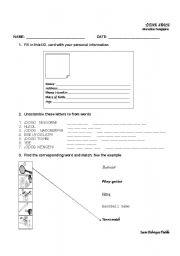 English Worksheets: personal presentation