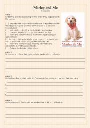 ´Marley and Me´ Video activity