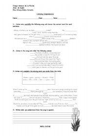 English Worksheets: son lyrics