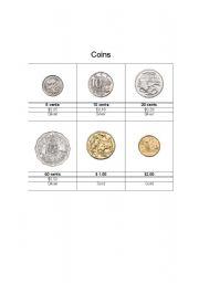 English Worksheet: Australian Coins