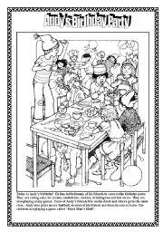 English Worksheet: Andy�s Birthday Party