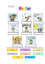 English Worksheets: weather dog