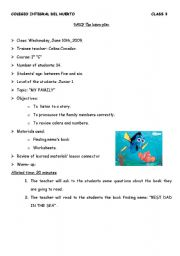 Lesson Plan My Family Amazing Design