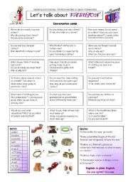 English Worksheet: Let�s talk about FASHION