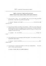 English Worksheets: Skits