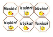 English Worksheets: likes questions cards