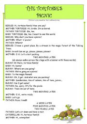 English Worksheet: children´s play - THE TORTOISES´ PICNIC