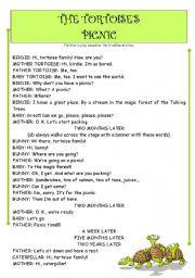 English Worksheet: children´s play - THE TORTOISES´ PICNIC