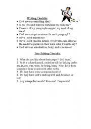 English Worksheets: writing checklist