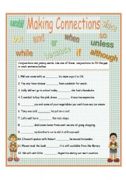 Making Connections - conjunctions