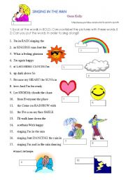 English Worksheet: Singing in the rain