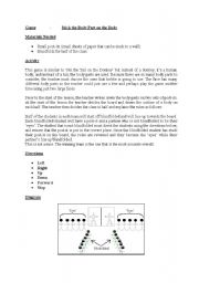 English Worksheets: Pin the body part on the body