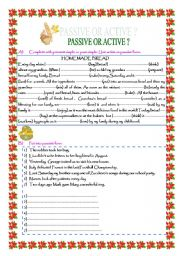 PASSIVE OR ACTIVE? Present simple and past simple active and passive forms