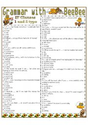 English Worksheet: Grammar with BeeBee -- IF CLAUSES 1 and 2