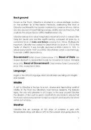 English Worksheets: Visit to Gibraltar