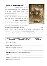 Story time (Lord of the rings & create your own scary story)