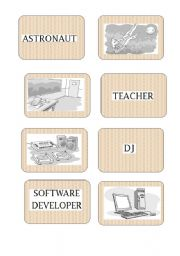 English Worksheets: Occupation Memory Game or flashcards part 2