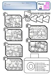 English Worksheet: Where is Hello Kitty? - PLACES